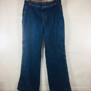Soft Surroundings Denim Elastic Waist Pants